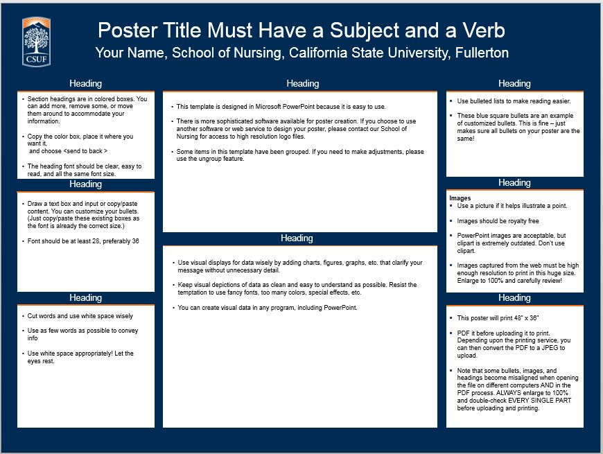 Son student resources school of nursing csuf poster template 2 pronofoot35fo Choice Image